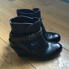 Fiorentini + Baker 'Paige' dark brown leather ankle boots Size 37 UK4