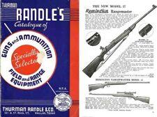 Thurman Randle's Gun Catalogue of 1938, Dallas, TX.