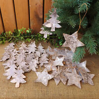 Natural Birch Bark Hanging Stars or Trees Home Craft Wedding Christmas 10 or 20