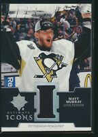 2019-20 Upper Deck Ultimate Collection Icons Jersey Relic Matt Murray Penguins