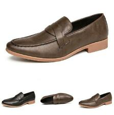 Men Pointy Toe Oxfords Slip on Party Retro Business Leisure Faux Leather Shoes L