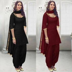 Indian Punjabi Maroon Black Patiyala Salwar Suit Stitched Designer Salwar Kameez