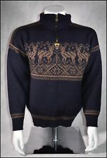 DALE OF NORWAY SPORT WOOL SWEATER MENS M MIDNIGHT BLUE