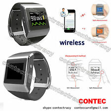 Contec CMS50K Wearable Ditital Pulse Oximeter,SpO2,ECG,pedometer,Daily&Overnight