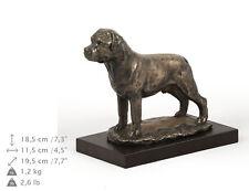 Rottweiler, dog bust/statue on wooden base , ArtDog , Ca