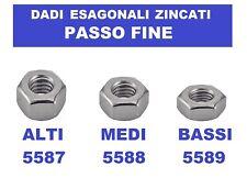 DADI PASSO FINE MEDI 5588 / ALTI 5587  BASSI 5589 IN ACCIAIO ZINCATO M12X1,25 MB