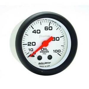 "Autometer Phantom 2-1/16"" Oil Pressure 0-100 PSI Mechanical Gauge"