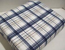 Eddie Bauer Home Blue Plaid Cotton Flannel Twin Sheet Set ~ New ~ Free Shipping