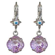 Kirks Folly STARSHINE LEVERBACK EARRINGS  silvertone / violet visions