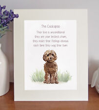 Cockapoo BESTEST CHUM Novelty Dog Poem 8 x 10 Picture/10x8 Print Fun Gift-Brown
