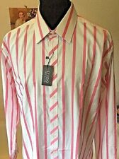 Machine Washable Striped Men's 46 in. Chest Formal Shirts