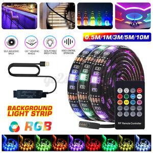 5M LED Strip Lights USB 5050 RGB Music Infrared Remote Control Waterproof IP65
