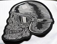 Skull, Patch,XXL,Rückenaufnäher,Badge,27cmx29cm,Biker,Kutte,Aufbügler,Totenkopf