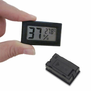 Mini Digital LCD Temperature Humidity Meter Thermometer Hygrometer Black