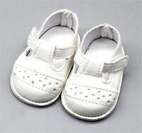 Puppen Schuhe Sommer Schuhe Stegschuhe weiß 6,5 cm Sohlenlänge, Nr. 274...