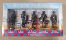 Westair knights in armor 5 pc. 1300 to 1600AD pewter figurines NEW mAAS
