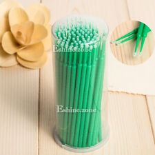 Makeup Individual False Eyelashes Cleaner Remover Cotton Stick Round Micro Brush