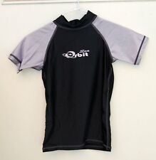 Kids Rashes Top Lycra Top Silver/Black Size available 4, 6, 8, 10, 12, 14