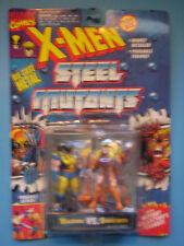 """1994 Die Cast X-MEN Steel Mutants WOLVERINE vs. SABRETOOTH 3"""" Figures - ToyBiz"""