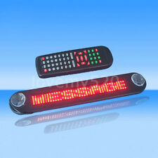 Car auto 12V RED LED Message Sign Programmable Moving Scrolling Board w/remote