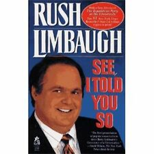 See I Told You So by Rush Limbaugh Book For Cocker Spaniel Rescue Charity