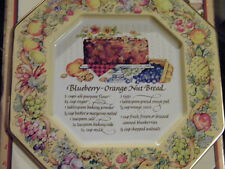 Avon Hospitality Sweets Recipe Plate Blueberry-Orange Nut Bread