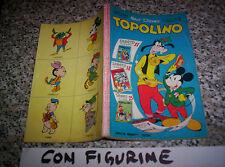 TOPOLINO LIBRETTO N.237 ORIGINALE MONDADORI DISNEY 1960 CON BOLLINO E FIGURINE