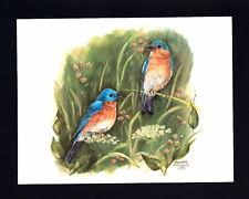 "Artist Note Cards ""Blue Birds"" By Elizabeth J. Marshall"