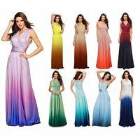 Women Color Changing Wrap Convertible Bandage Long Dress Party Sexy Maxi Dress
