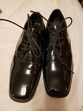 Giorgio Brutini Men's 10M Fallon 175881 Black Patent Oxfords Tuxedo Dress Shoes
