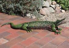 Gartenfigur, Gartendekoration, Großes Krokodil im Landhaus Stil aus Eisen