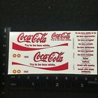 Clear 1:64 Waterslide Decal Diecast A100 Coca Cola Try To Be Less White