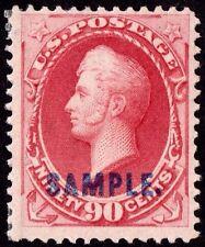 US Sc# 191sK *MINT OG H* { 90c CARMINE PERRY } BEAUTY SAMPLE OVERPRINT FROM 1879