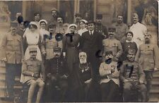 WW1 Soldier French convalescent wounded British Nurses ? & Priest Paris Neuilly
