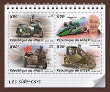 Niger - 2018 Motorcycle Sidecars - 4 Stamp Sheet - NIG18324a
