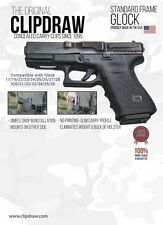 Clipdraw (IWB) Ambidextrous Concealed Gun Belt Glock 17, 19, 22, 23,24,26, 34,36