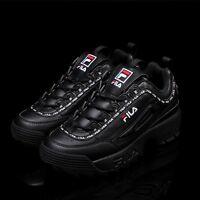 FILA Disruptor II 2 Black Tapey Tape Shoes Unisex Size UK 3-9 FS1HTA3092X_BBK