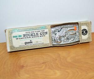 Vintage Mattel BUCKLE GUN Western Belt Set In Box NOS Remington Derringer 1958
