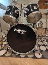 Schlagzeug Sonor schwarz mit viel Zubehör