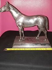 Antique silver plated horse statue. (not scrap)