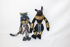 "Toy Vault Anubis Baset Bast Egyptian God Stuffed Plush Soft Doll Toy Set 12"" LOT"