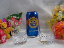 LOVELY STUART CRYSTAL GLASSES / TUMBLERS x 2 - 9 1/4 cm H - MADE ENGLAND # 222