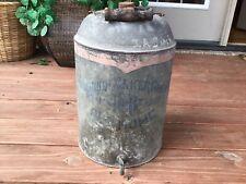 Vintage Galvanized Metal Water Cooler Jug Rustic. Old Advertising