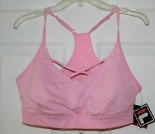 WOMEN'S SZ XL LIGHT SUPPORT PINK COLOR SPORTS BRA by FILA SPORT-NEW WITH TAGS