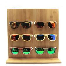 2018 NEW 6 PAIR NATURAL WOODEN SUNGLASS DISPLAY RACK wood sunglasses holder