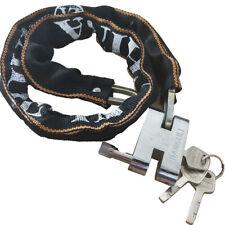 "32"" Heavy Duty Motorcycle Bicycle Bike Chain Padlock Lock Nylon Steel W/ Keys"
