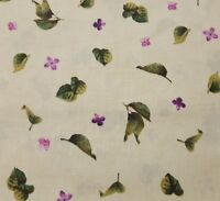 Chateau BTY Tina Higgins Quilting Treasures Lilac Petals Floral on Beige