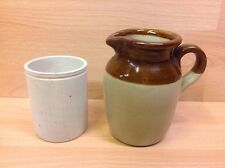 Vintage Stoneware Kitchen Jug & Preserves Jar.