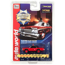 NEW Auto World R21 '74 Dodge Monaco Chicago Fire Chief HO Slot FREE US SHIP
