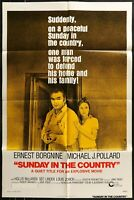 SUNDAY IN THE COUNTRY 1974 Ernest Borgnine ORIG 1-SHEET MOVIE POSTER  27 x 41